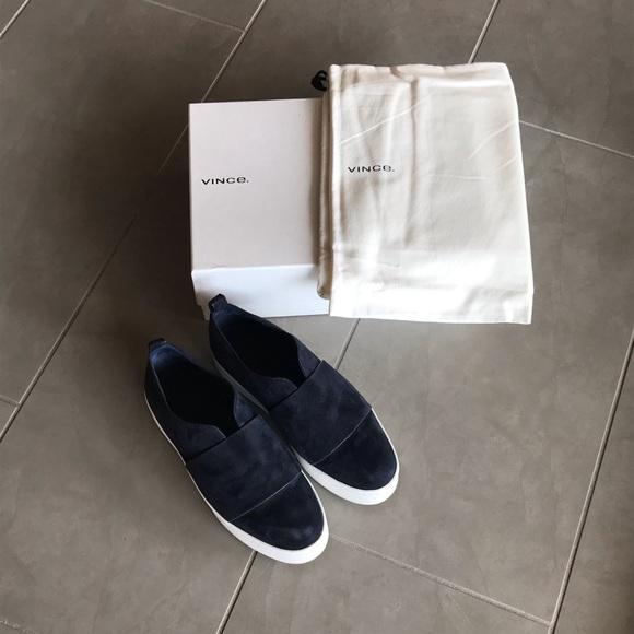 ec69e9c1a6c3a Vince Wallace Platform Suede Sneaker 37.5
